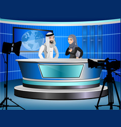 detailed of muslim tv vector image