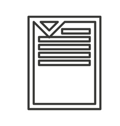 document paper file isolated icon vector image