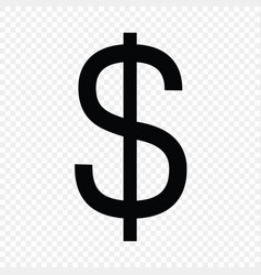 Dollar sign currency symbol vector