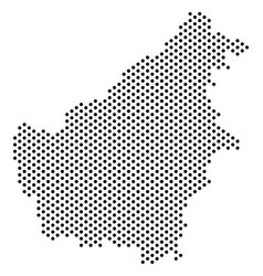 Dotted borneo island map vector