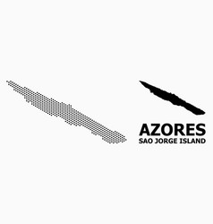 Dotted pattern map sao jorge island vector