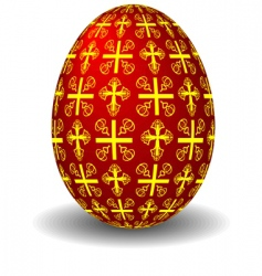 Easter celebratory red egg vector image