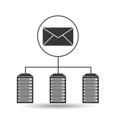 email data center connection vector image