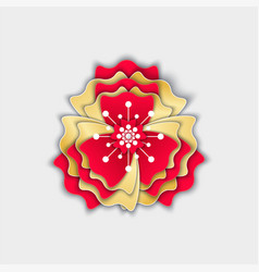 flower origami flora decoration made of paper vector image