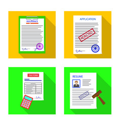 Form and document sign vector