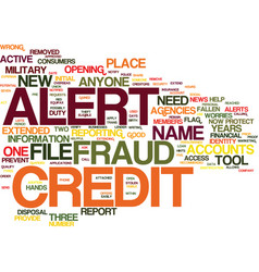 fraud alert a new tool to protect your credit vector image