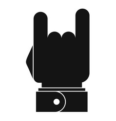 hand music icon simple black style vector image vector image