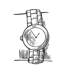 Hand with watch vector