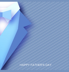 happy fathers day greeting card mans jacket in vector image