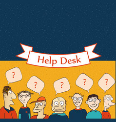 Help desk board vector