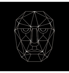 human face of the lines in a simplified vector image