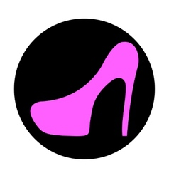 Icon shoes with heels vector image