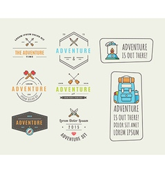 Icons for adventure in the style of flat vector