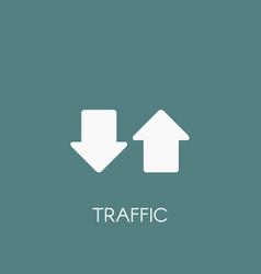 Internet traffic icon vector