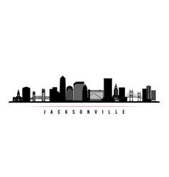 jacksonville skyline horizontal banner vector image