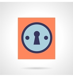 Keyhole flat color style icon vector