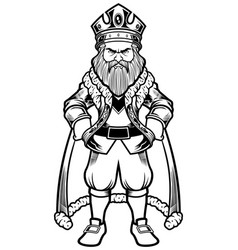 King standing line art vector