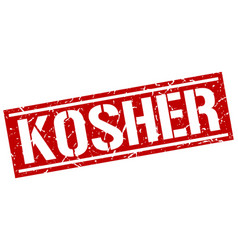 Kosher square grunge stamp vector
