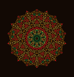 mandala ornament background round vintage vector image