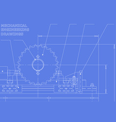 Mechanical engineering drawings drawing on a vector