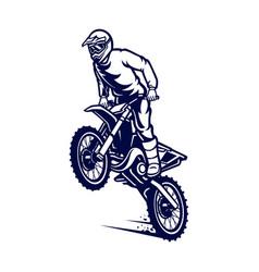 Motocross freestyle logo vector