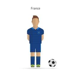 National football player France soccer team vector