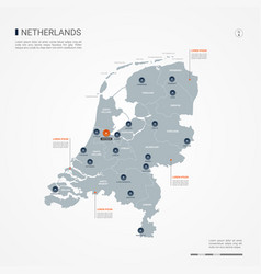 Netherlands infographic map vector
