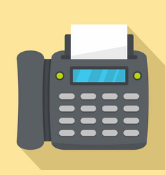office fax icon flat style vector image
