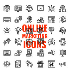 online marketing icon vector image