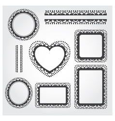 Ornament Frame Set vector