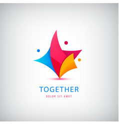 Person logo teamwork love support vector