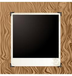 picture wood vector image