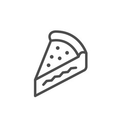 pie slice line outline icon vector image