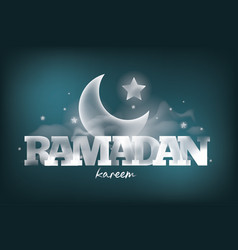 Ramadan kareem greeting card design vector