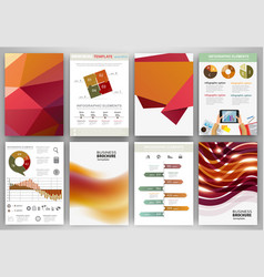 red and orange backgrounds and abstract concept vector image