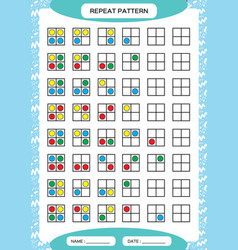Repeat pattern square grid with colorfull circles vector