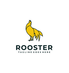 rooster design concept template vector image