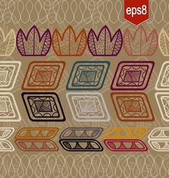 Seamless pattern with abstract ethnic elements vector image