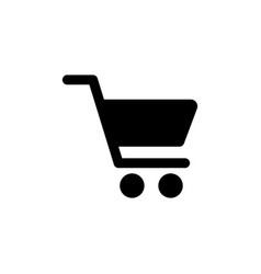 shopping cart icon in flat style shopping symbol vector image