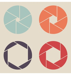shutter icon set vector image