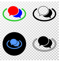 social network messages eps icon with vector image