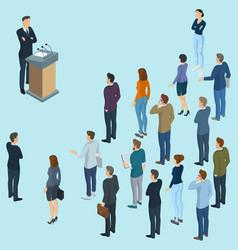 speaker giving a talk vector image