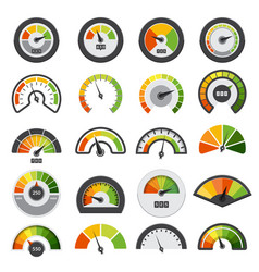 speedometers collection symbols speed score vector image