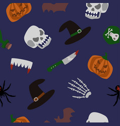 spooky halloween seamless pattern vector image