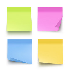 Sticky colored notes post note paper vector