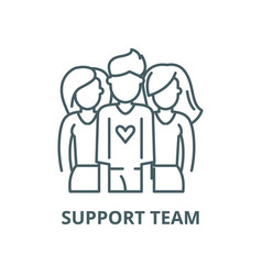 support team line icon linear concept vector image
