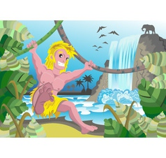 Tarzan in forest 6 vector image