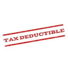 Tax Deductible Watermark Stamp vector