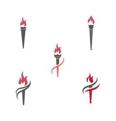 Torch icon design vector