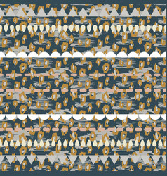 tribal ethnic boho seamless pattern neutral colors vector image